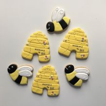 Bumble bee baby shower cookies